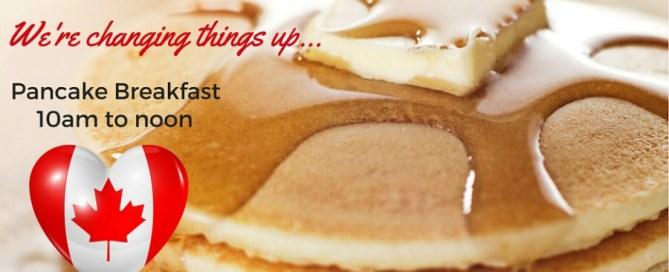Canada Day - street party invitation, pancake breakfast