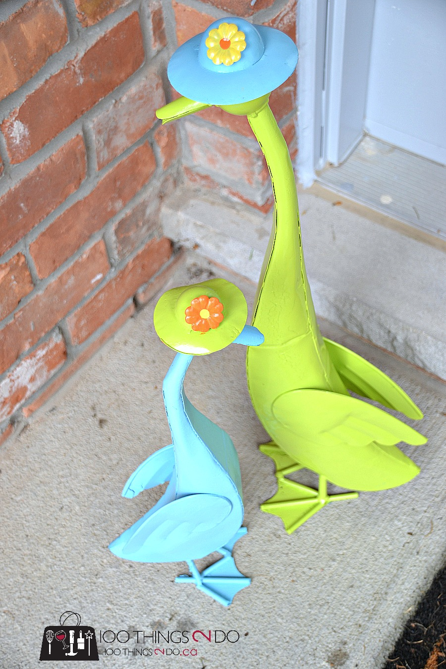 Metal Garden Art - refinishing our ducks