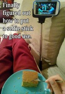 Too funny - selfie stick