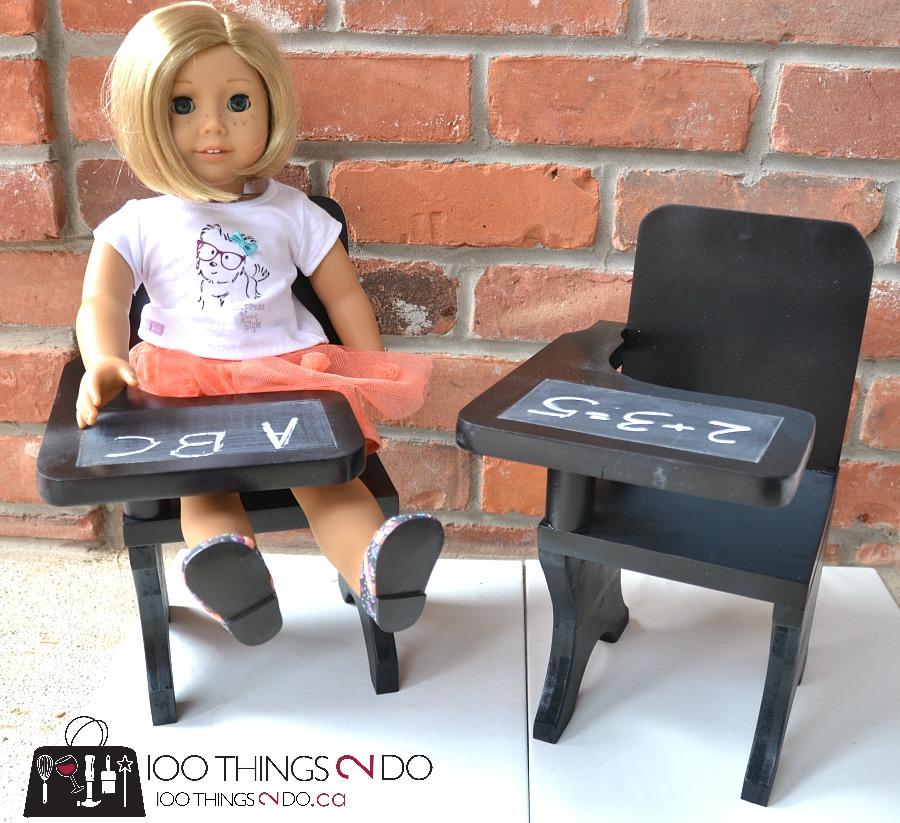 "DIY doll desk, American Girl desk, 18"" doll desk, DIY doll furniture"