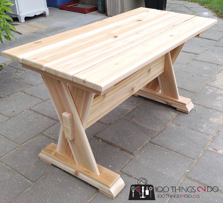 DIY Cedar Patio Table, DIY Patio Table, DIY Outdoor Furniture, DIY Patio  Coffee