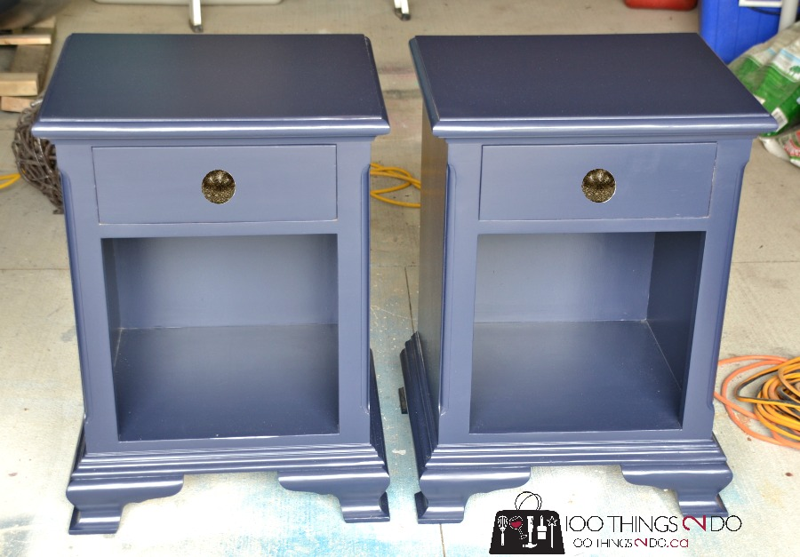 Navy And Gold Bedside Lamps: Nightstand Makeover - Hale Navy
