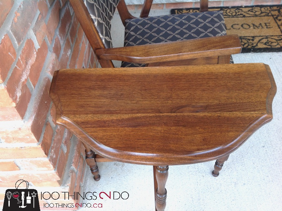 Office chair makeover, wood office chair, refinished wood chair, reupholstered chair, waiting room chair
