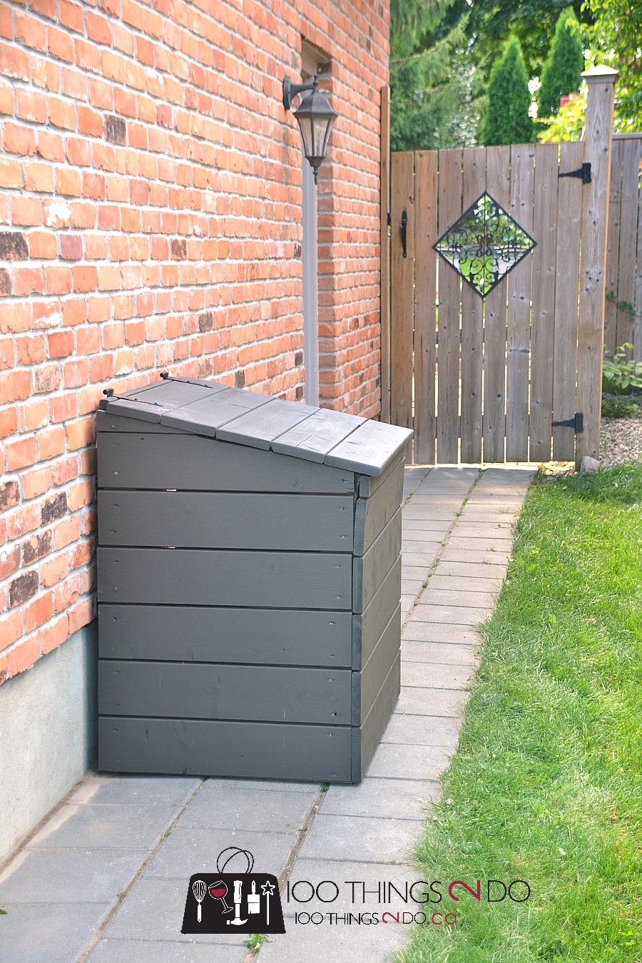 DIY outdoor garbage bin, outdoor garbage shed, outdoor garbage can enclosure