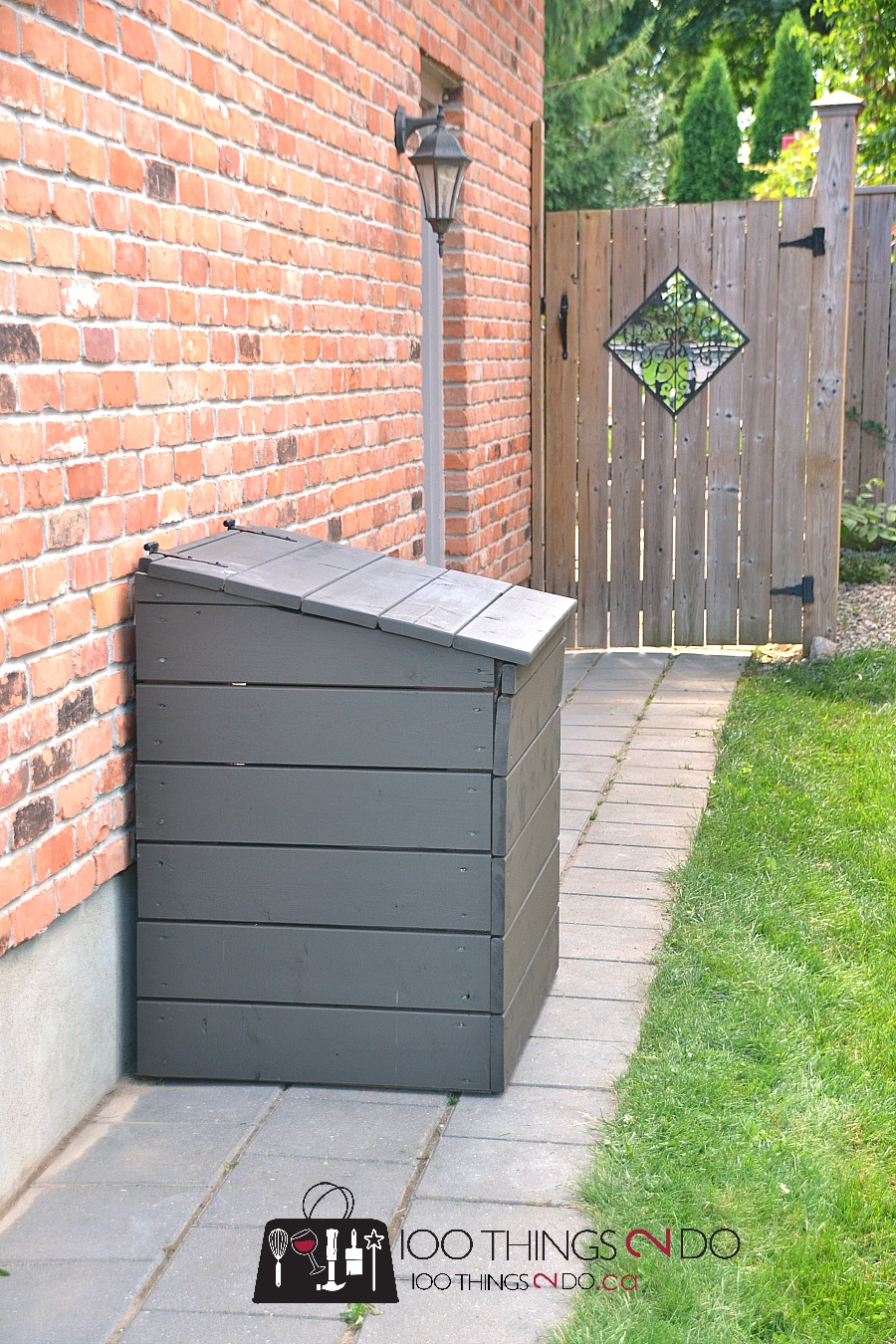 DIY outdoor garbage bin, outdoor garbage shed, outdoor garbage can enclosure