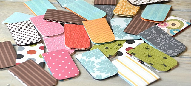 Magnetic bookmarks, easy paper craft bookmarks, easy magnetic bookmarks, bookmark, scrap paper bookmarks