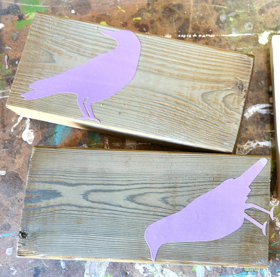 Scrap wood crows, Halloween decor, Hallowe'en crows, Rockwell Bladerunner X2