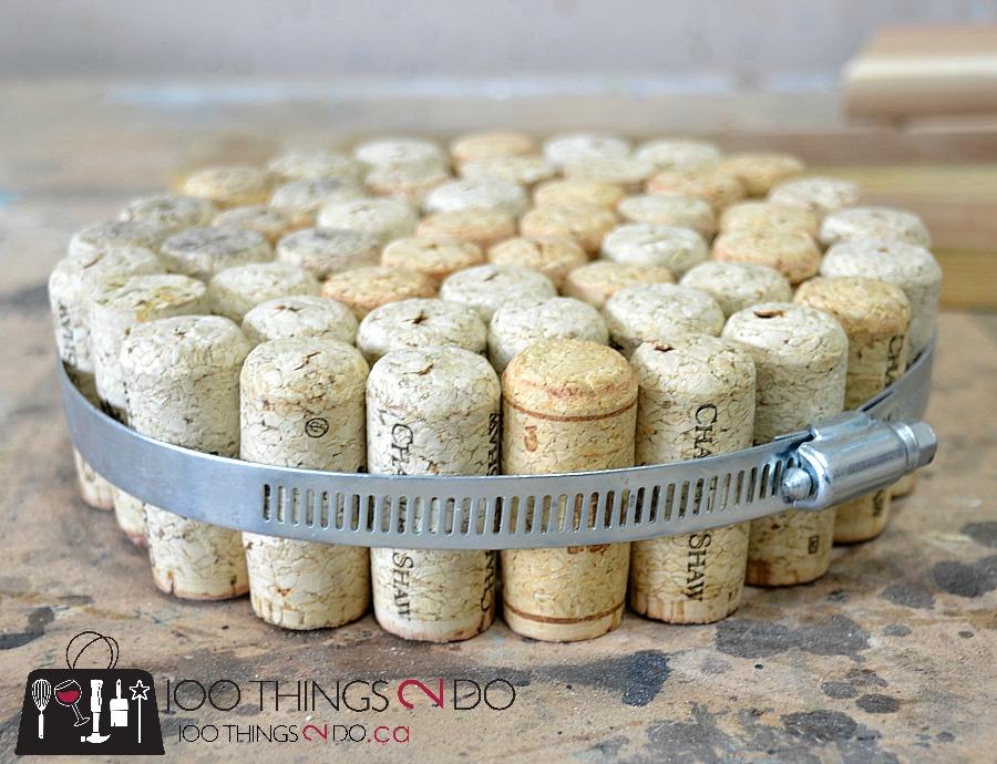 DIY Cork Trivet, DIY trivet, DIY hot pad, wine cork trivet