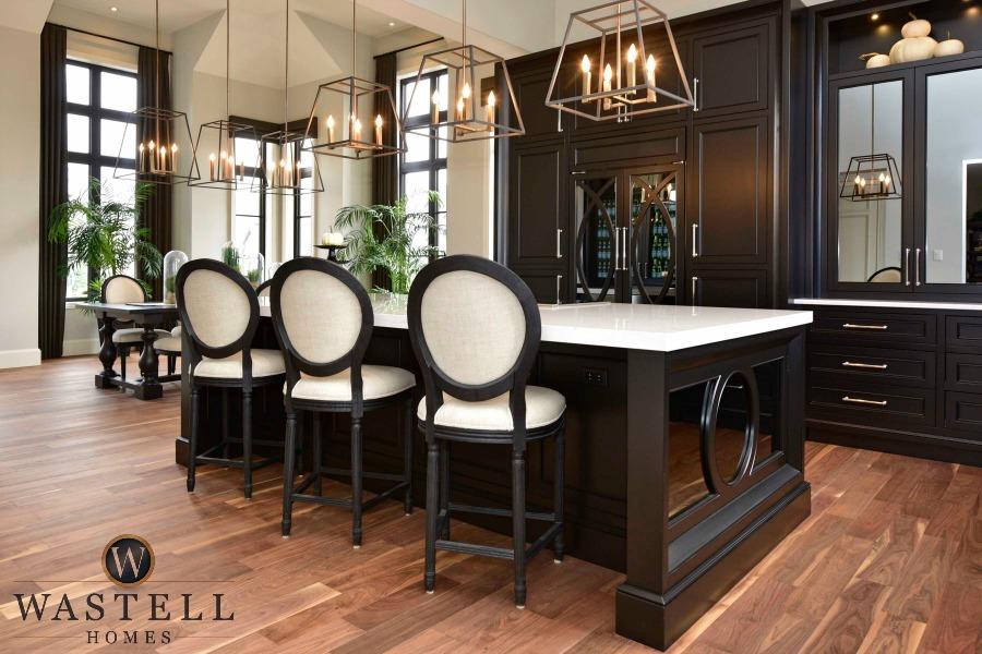 black kitchen, luxury kitchen, dream kitchen, gray owl Benjamin Moore, dream home, model home, Wastell homes