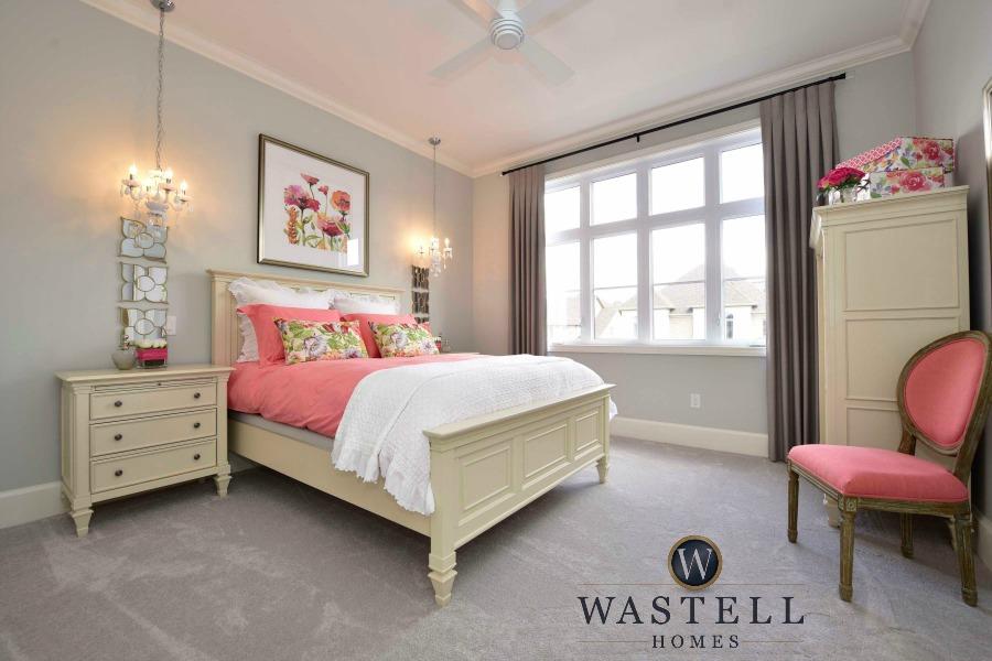 girls bedroom, tween bedroom, feminine bedroom, gray owl Benjamin Moore, dream home, model home, Wastell homes