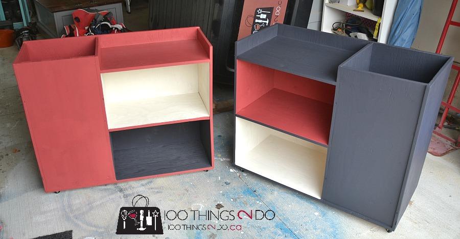 DIY Sports Storage Cart, Organizing Sporting Equipment, Hockey Storage Rack,  Baseball Storage Cart
