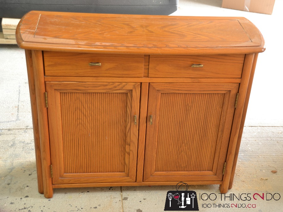 Cabinet makeover, sideboard makeover, painting oak &#91;...&#93; </p srcset=