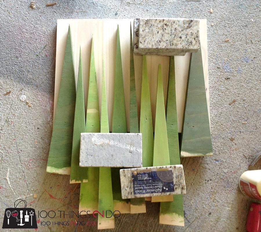 scrap wood Christmas trees, wood Christmas trees, wood trees, easy DIY trees