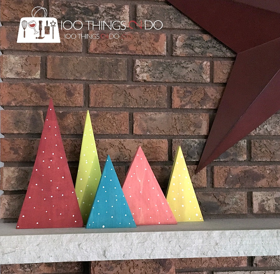 scrap wood Christmas trees, wood Christmas trees, wood trees, easy DIY trees
