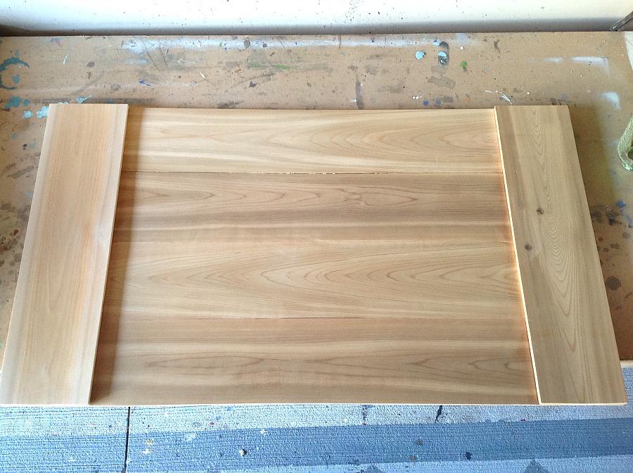 Farmhouse tray, ottoman tray, easy build tray, rustic industrial tray