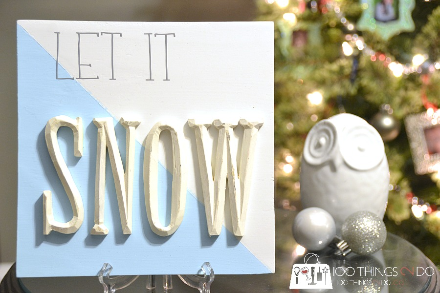wood sign, Christmas sign, let it snow sign, I'll be home for Christmas, let it snow, raised letter sign, Christmas decor, scrap wood