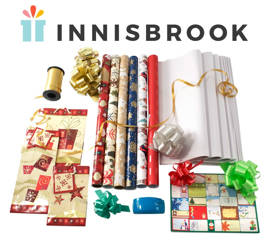 Gift wrap, wrapping paper, Christmas wrap, coordinated gift wrap, Innisbrook, Festive Forest gift wrap kit