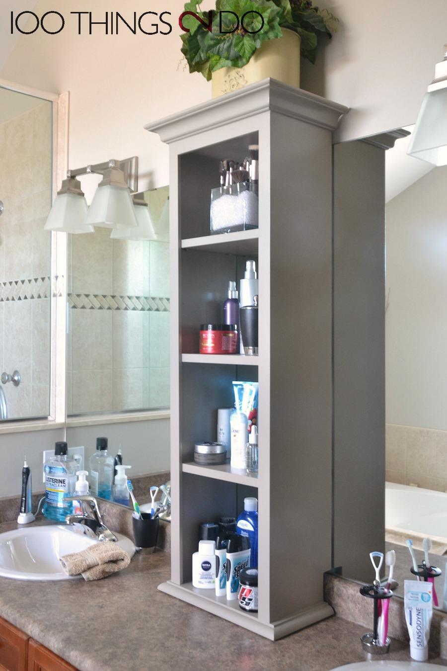 Bathroom vanity storage bathroom storage tower - Small bathroom vanity with storage ...