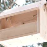 DIY bird feeder, easy bird feeder, $4 bird feeder, homemade bird feeder, scrap wood bird feeder