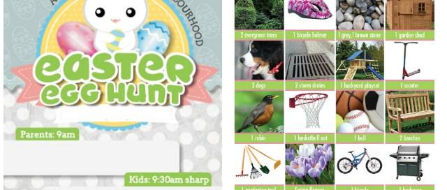 Easter Egg Hunt invitation, Easter scavenger hunt, easter egg hunt, egg hunt, neighborhood scavenger hunt, neighbourhood scavenger hunt, free printables