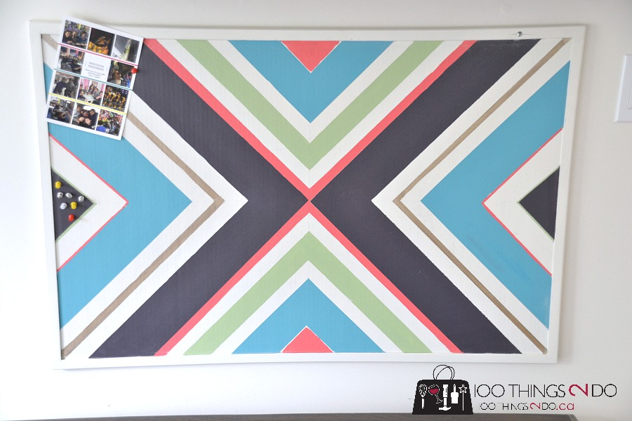 Cork Board Makeover, diy cork board, painted cork board, tween bedroom decor, easy teen bedroom update, cork board update