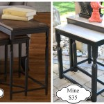 DIY Nesting tables, Nesting table, nesting table building plans, free building plans, patio table, side tables, DIY side table
