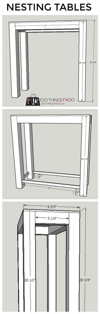 Nesting tables, Nesting table plans, DIY Nesting tables, build your own nesting tables, patio table