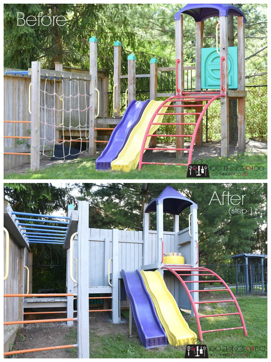 Treehouse, playground, treehouse makeover, playground makeover, Tween treehouse, Tween playground, play structure, Arborcoat