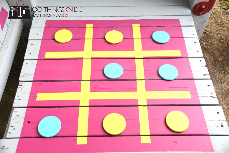 outdoor summer games, tic tac toe, treehouse, backyard playground, tic tac toe board, Arborcoat, Clancy's Rainbow