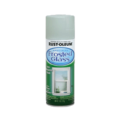 Rustoleum Frosted Glass Spray - creates a gorgeous sea glass effect on bottles jars and mirrors