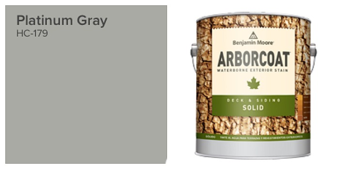 Arborcoat solid stain, platinum grey