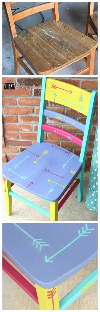 Painted chair, Chair makeover, wood chair, hand-painted chair, refinished chair, desk chair