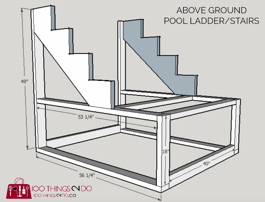 Diy Above Ground Pool Ladder Stairs Things Do