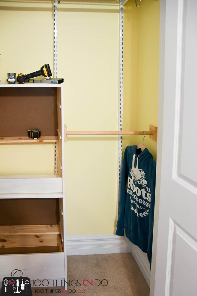 Small closet organization, kids closet, closet organizers, ikea rast hack, closet system, closet drawers