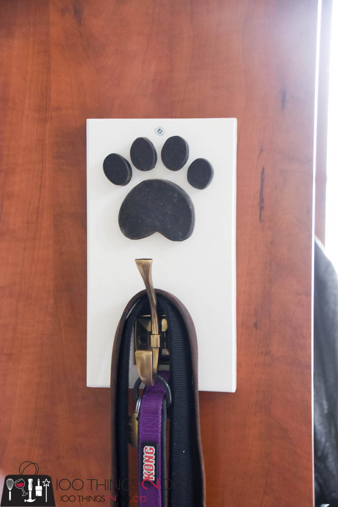 Leash hook, leash holder, dog leash hook, scrap wood project, pet leash, pet organization