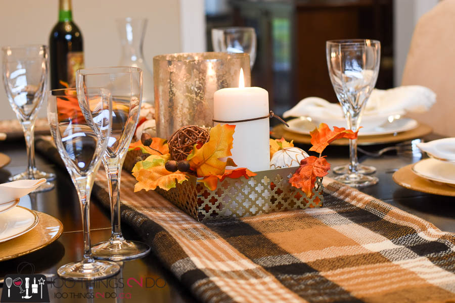Fall tablescape, Thanksgiving tablescape, Fall dining room, Autumn dining room, Fall table setting, Autumn table setting