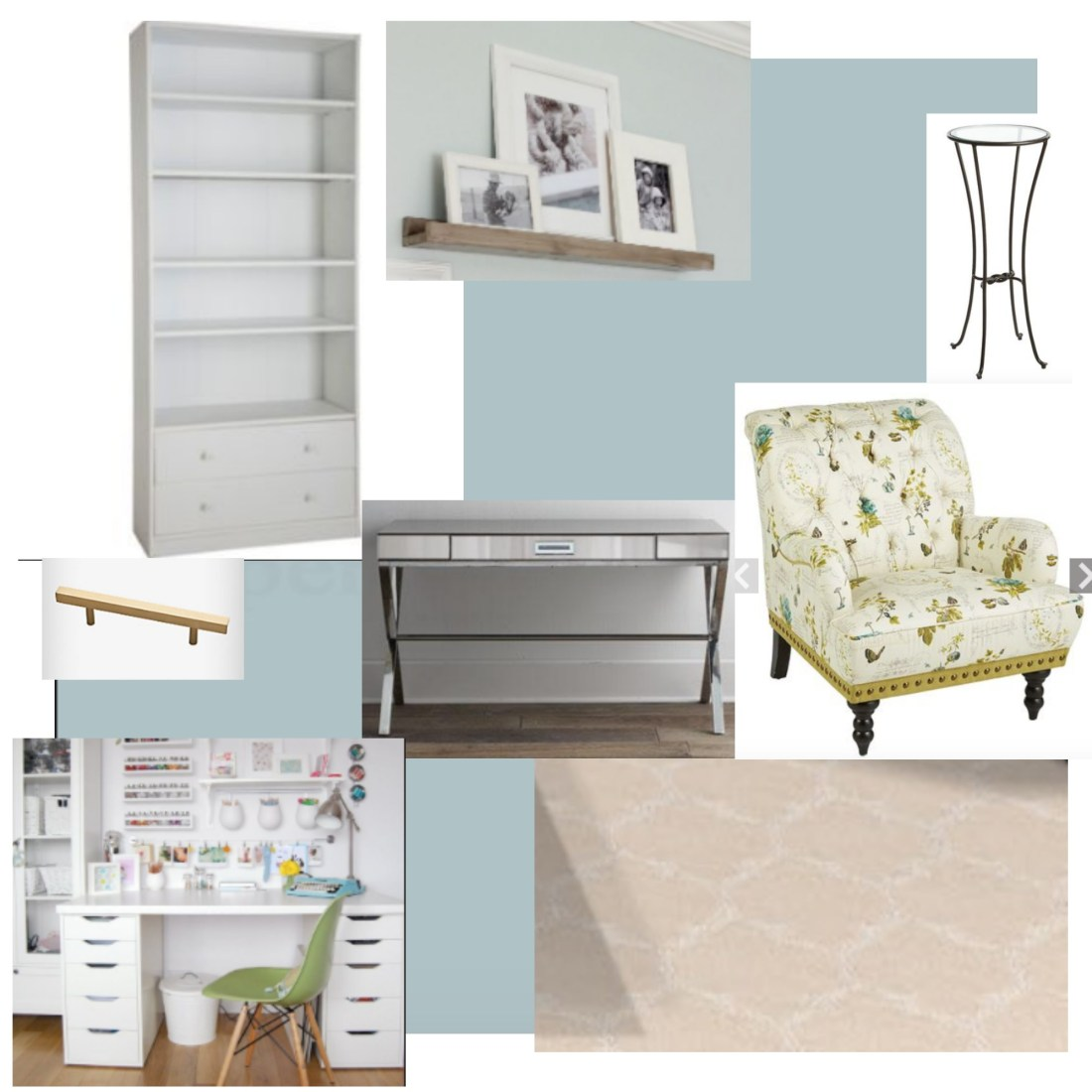 ORC challenge, home office, One room challenge, home office makeover, home office mood board