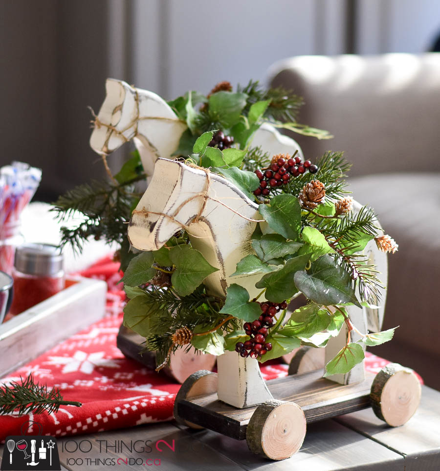 DIY Christmas Decor - Wooden Horse