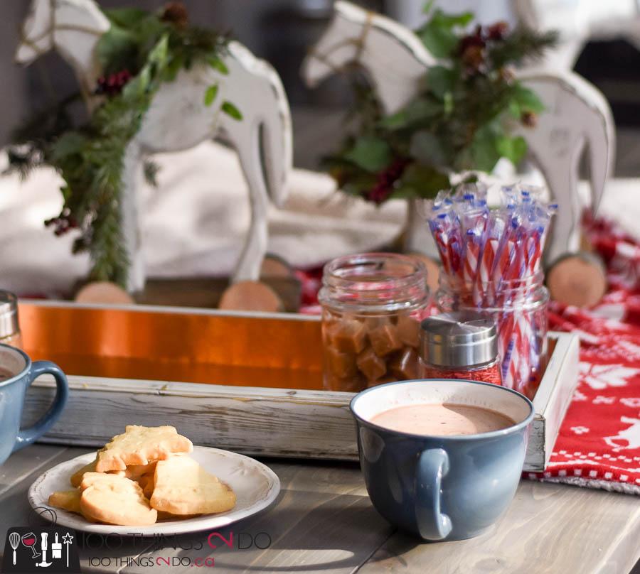Hot cocoa bar, hot chocolate bar, DIY copper tray, DIY hot cocoa tray, copper tray, M-D Building products, sheet metal projects