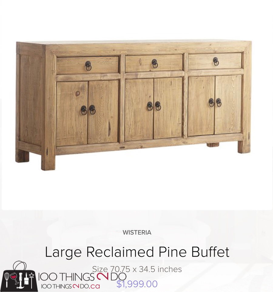 Large reclaimed pine buffet - Wisteria
