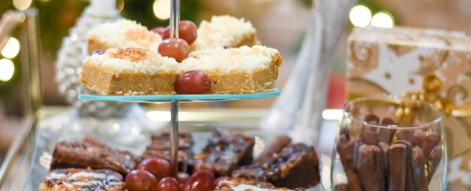 Holiday entertaining, bar cart, surprise guests, unexpected visitors, dessert display
