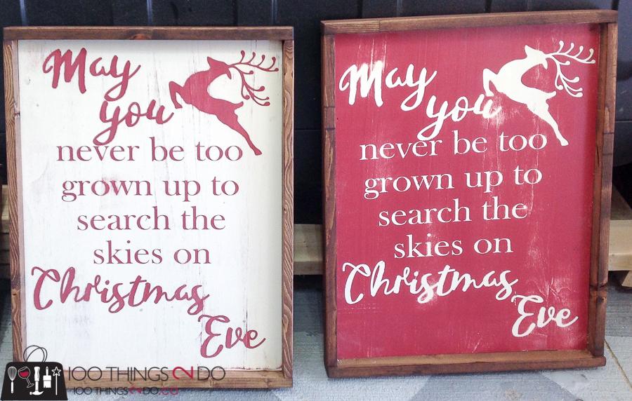20 Simple Christmas DIYs, Christmas sign, wood Christmas sign, may you never be too old, Christmas DIY, Easy Christmas crafts, DIY Christmas decor