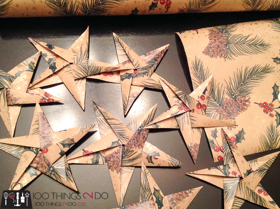 20 Simple Christmas DIYs, origami stars, paper ornaments, Christmas DIY, Easy Christmas crafts, DIY Christmas decor