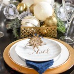 Christmas tablescape, Christmas table, Holiday tablescape, setting a Christmas table, navy and gold tablescape