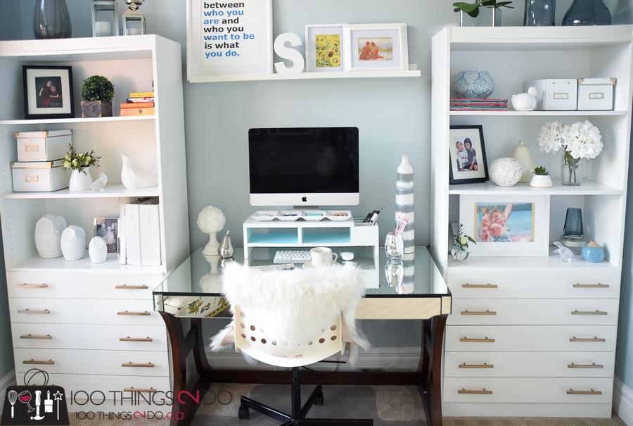 home office makeover. Home Office Makeover, Craft Room Room, Feminine Office, Makeover