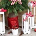 Make your own scrap wood lanterns, DIY rustic lanterns, white lanterns, Christmas lanterns