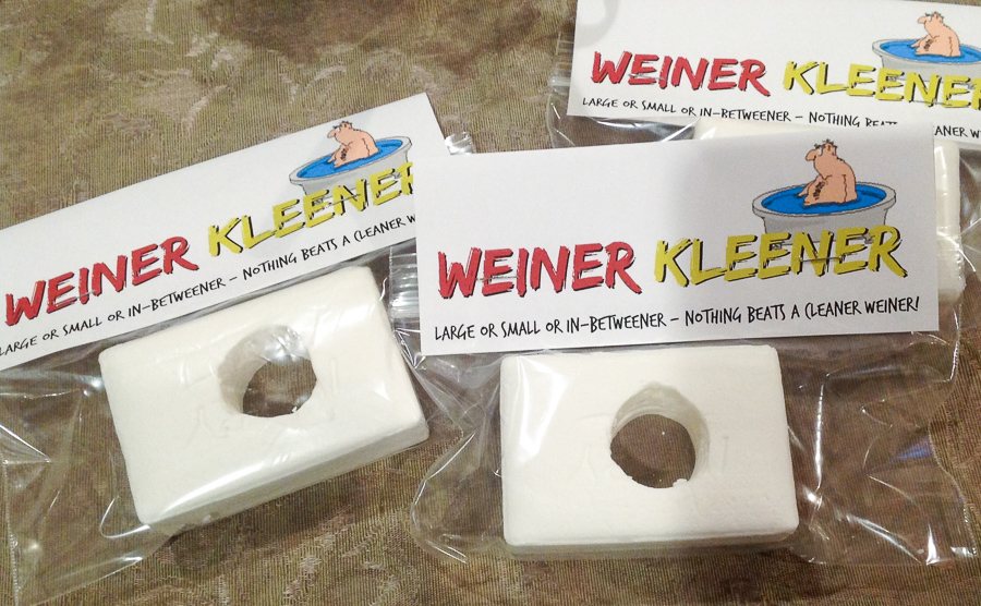 Gag Gift ideas, white elephant gift, gag Christmas gifts, funny gift ideas, weiner cleaner