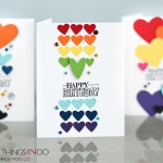 CAS birthday card, clean and simple birthday card, rainbow birthday card, birthday card, Stampin' Up Big Day