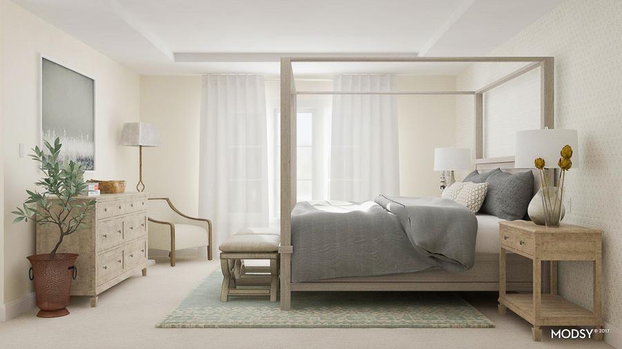 design bedroom online. Affordable Interior Design, Online Master Bedroom Makeover, Grey Bedroom, Design