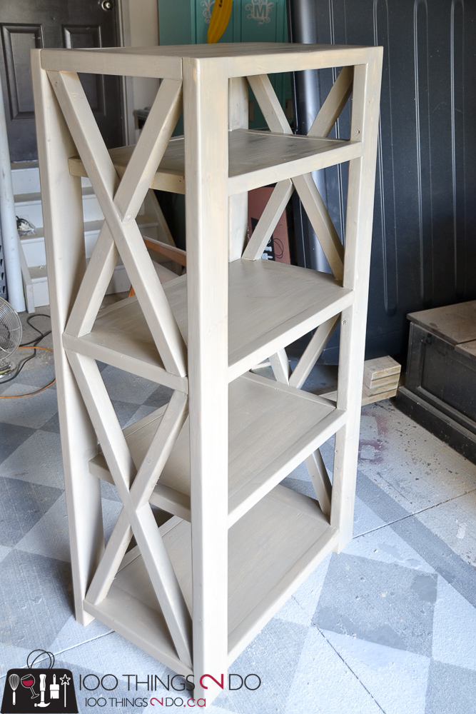 10 DIY Furniture Projects for Beginners, DIY furniture, beginner builds, easy DIY furniture, DIY bookshelf, rustic x bookshelf, easy-build bookshelf